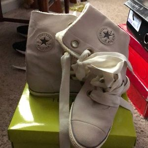 Converse high top suede big laces size 11